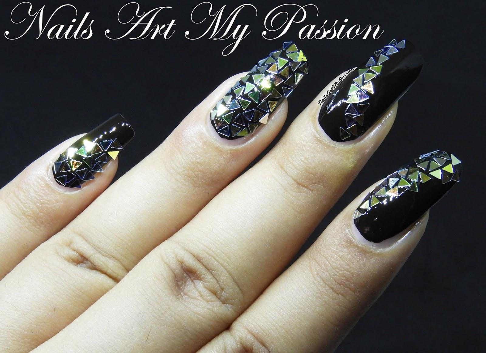 Nail Art My Passion: Broken Glass Nails using Born Pretty Nail Sequins