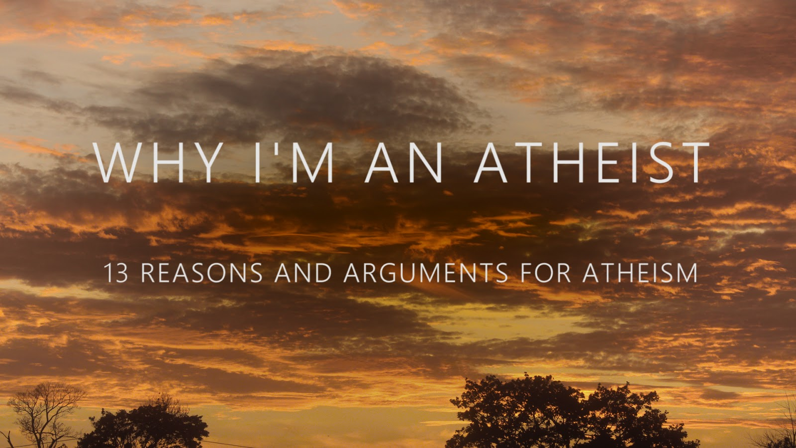 why i m an atheist 13 reasons arguments for atheism