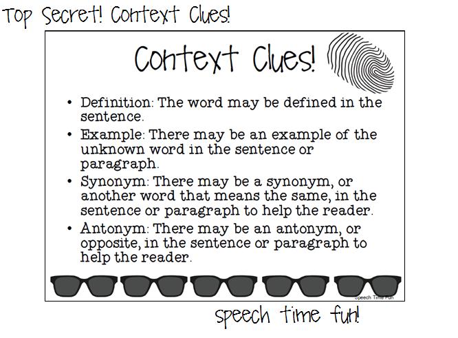 Examples Of Context Clues Sentence   CINEMAS 93