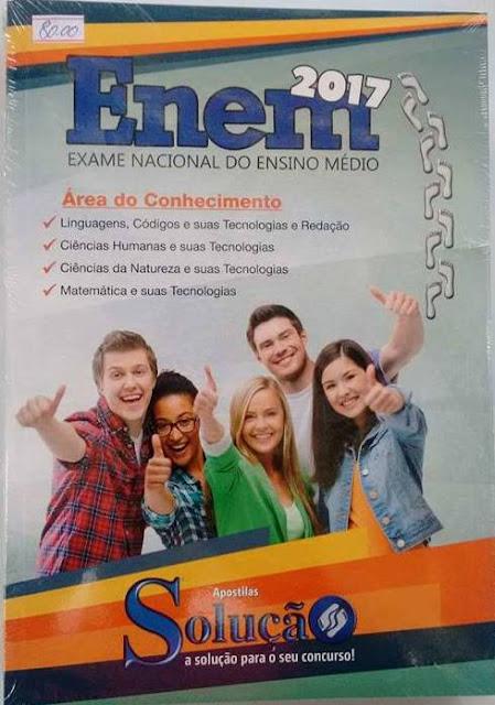 Enem 2017 -Exame Nacional de Ensino Médio,  Valor R$80,00 da apostila