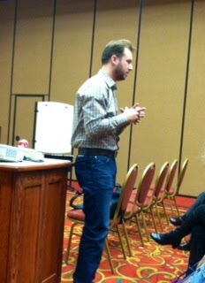 Author Adam Gidwitz speaking at TASL conference in Tennessee