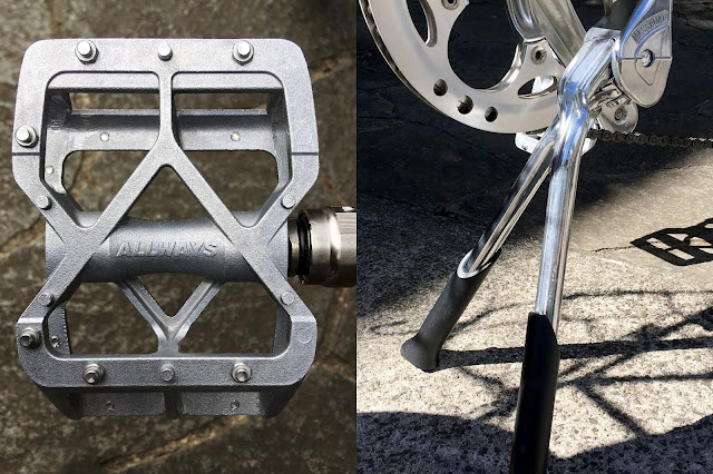 About MKS Allways Pedals and Massload Double Leg Kickstand