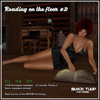 [Black Tulip] Anim - Reading on the floor #2