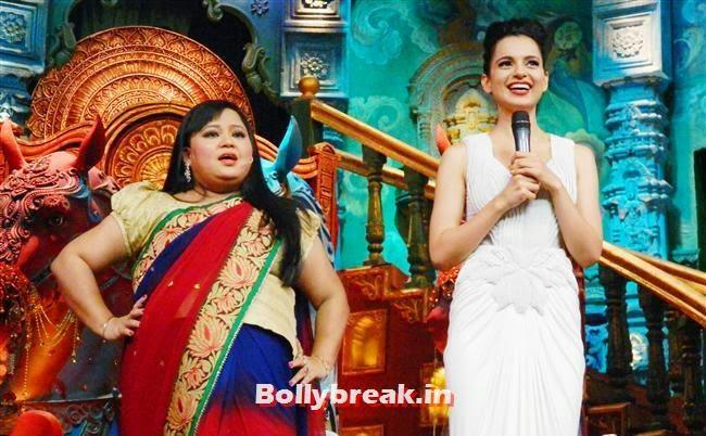 Bharti Singh and Kangana Ranaut, Kangana Ranaut on Comedy Circus for Rajjo Promotion