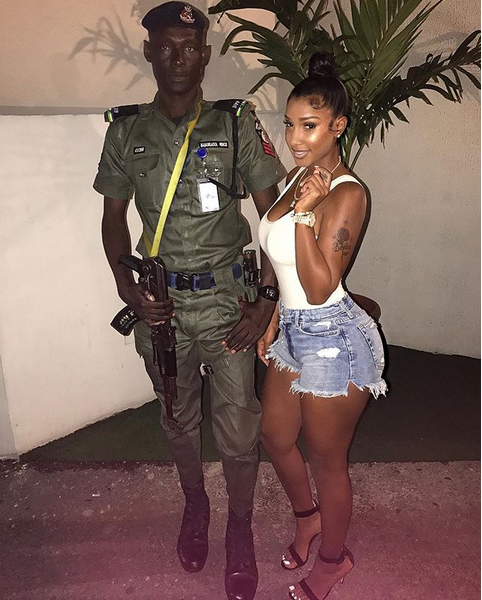 Bernice-Burgos-arrives-Nigeria-to-host-Dbanj's-album-release-party