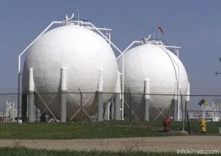 tangki gas bentuk bola bulat