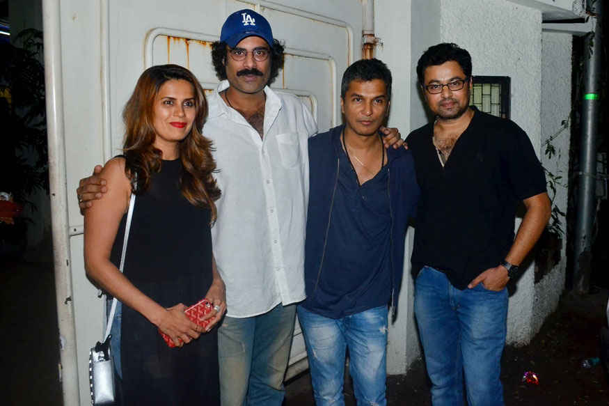 Vikram Phadnis and Subodh Bhave at Special Screening of Marathi Film Hrudayantar