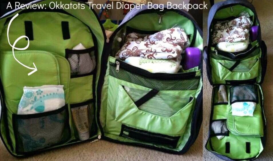 A Review The Okkatots Travel Diaper Bag Backpack Baby Depot