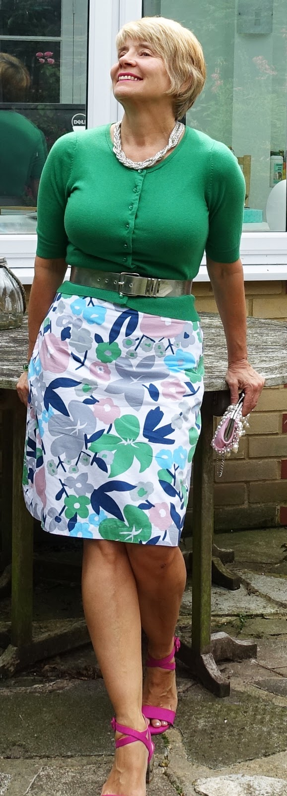 Is This Mutton? revisits Boden floral skirts and pairs another one with green and pink
