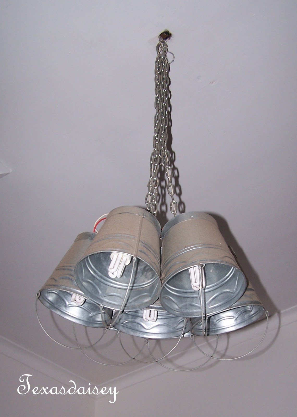 Texasdaisey Creations: Galvanized Light Fixture