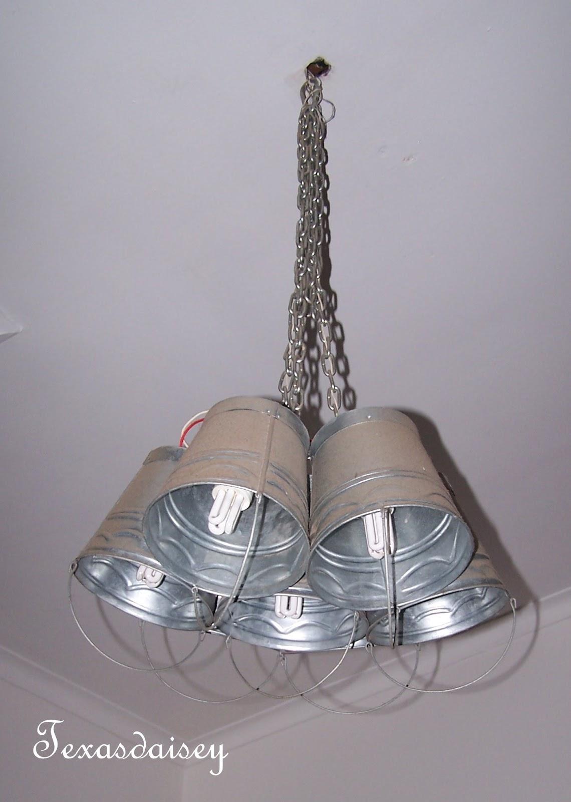 Texasdaisey Creations: Galvanized Light Fixture