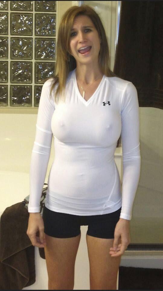 down shirt no bra