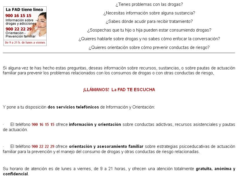 EXPERIENCIAS EN SALUD DESDE CASTRILLON.: RECURSOS: TELEFONO GRATUITO ...