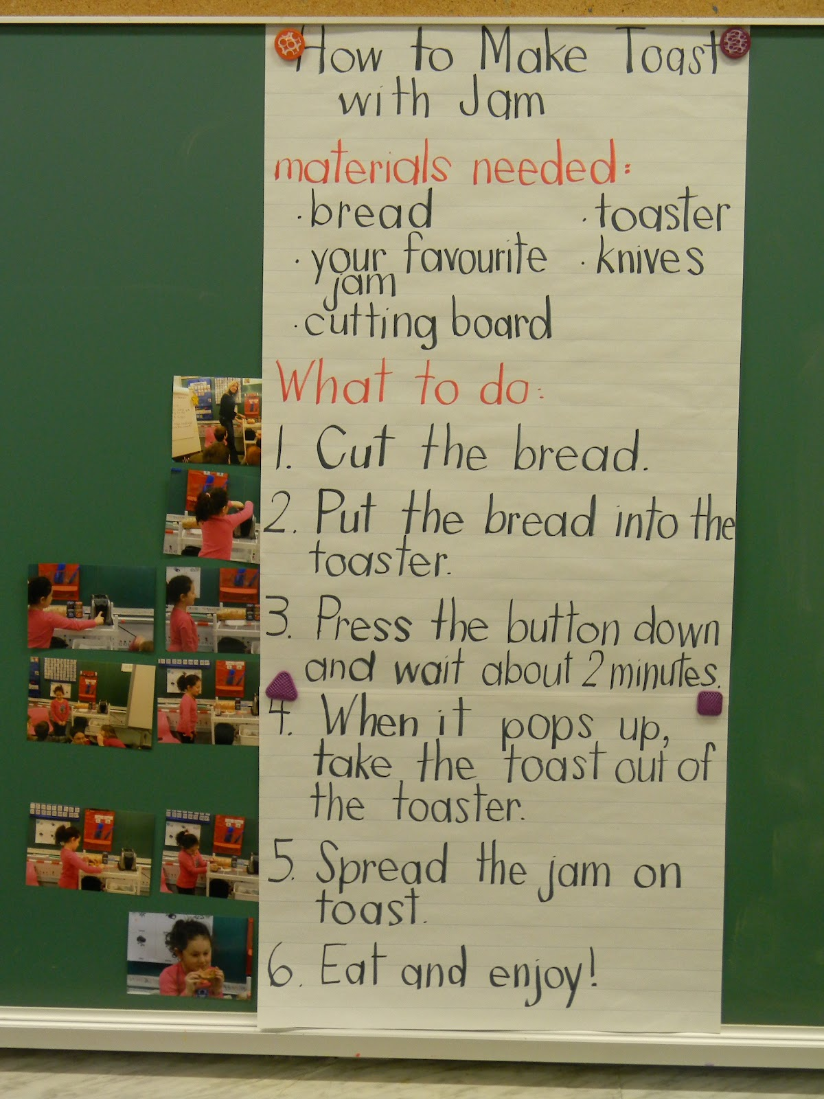 Ms Sinclair S Grade One Two Procedural Instructional