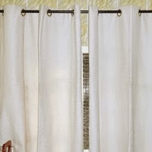 Eyelet Cream Kitchen Curtain, Nigeria