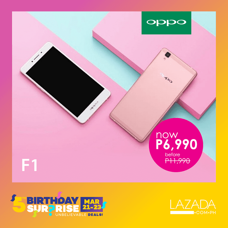 oppo-f1-lazada List Of OPPO Smartphones To Be On Sale At Lazada! Technology