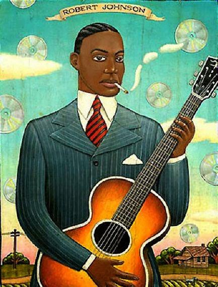 Robert Johnson - Grandes personalidades pintada por Marc Burckhardt
