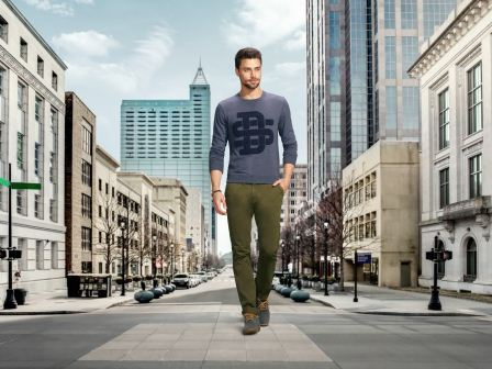 Max-Graphic SweatShirt Rs 999 _  Over Dyed Chinos Rs 1099 _ Casual Shoes Rs 1899