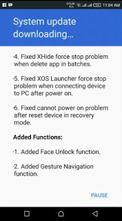 Infinix Zero 5 OTA update changelog and features
