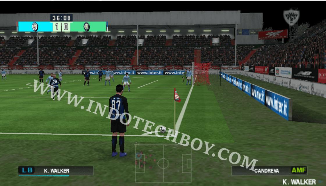 Extra Wide (Far) Camera Angle Mod for PES 2018 Chelito 19 v4 PSP