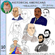 CLIP ART: Historical Americans - Washington, Lincoln, Franklin, Betsy Ross, Martin Luther King