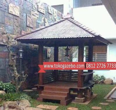 Gazebo Glugu Minimalis Rumah