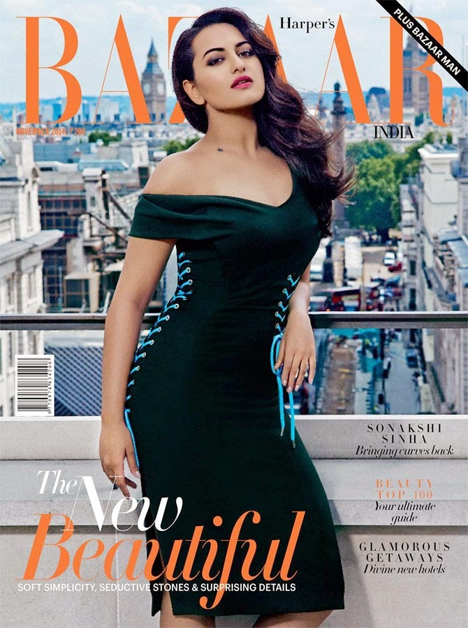 Sonakshi Sinha, Bollywood Actresses on Indian Magazines November 2014 Covers
