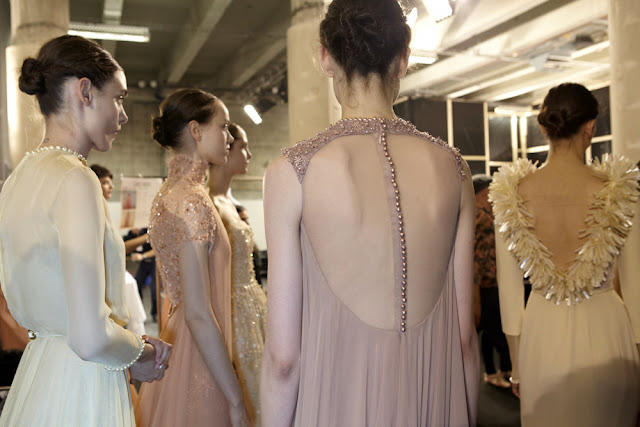 Georges Hobeika Haute Couture Fall/Winter 2013-2014 Backstage