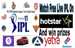 Watch Free Live vivo IPL Twenty20 on Hotstar And Win prizes.