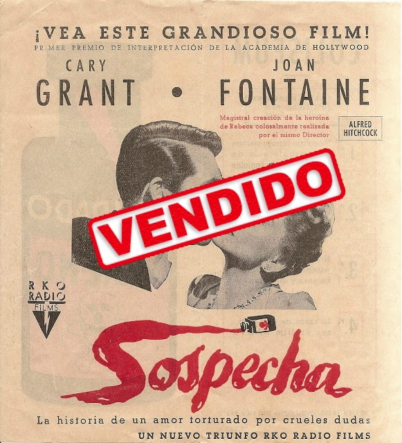 Sospecha - Programa de cine - Cary Grant - Joan Fontaine
