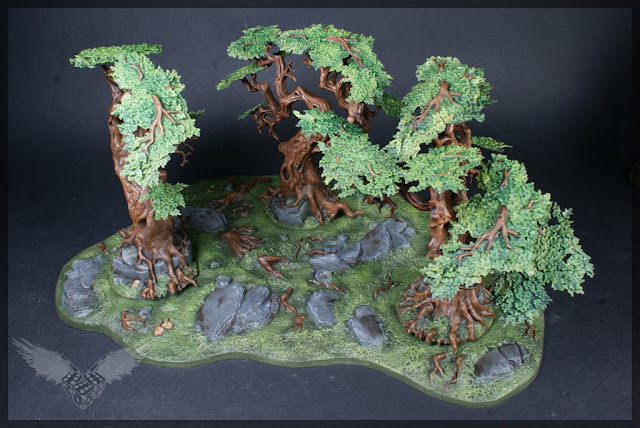 warhammer age of sigmar sylvaneth wyldwood painted forest scenery miniatures 2