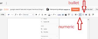 fitur blogger numeric dan bullet