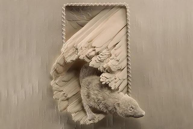 Calvin paper art