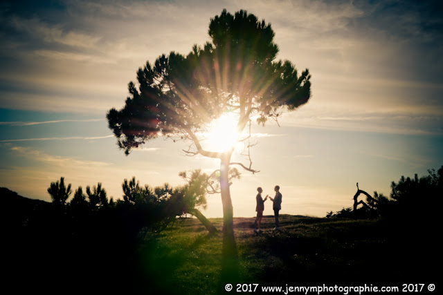 photos couple mariage dunes coucher de soleil vendée 85