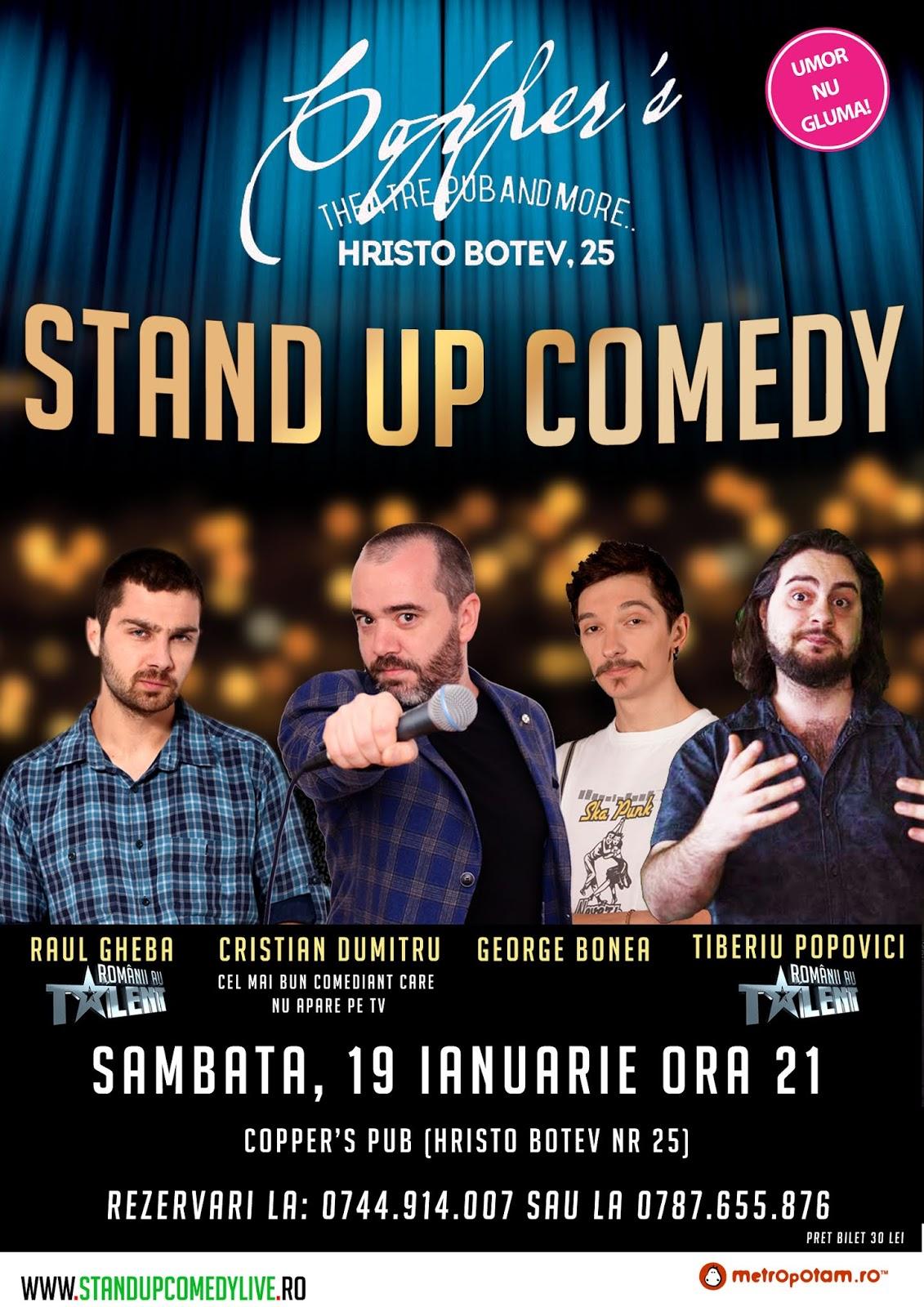 Stand-Up Comedy Bucuresti Sambata 19 Ianuarie 2019