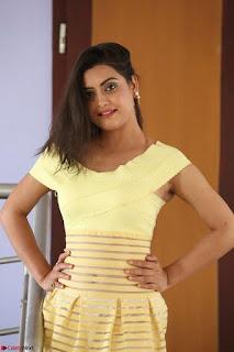 Shipra gaur in V Neck short Yellow Dress ~  027.JPG