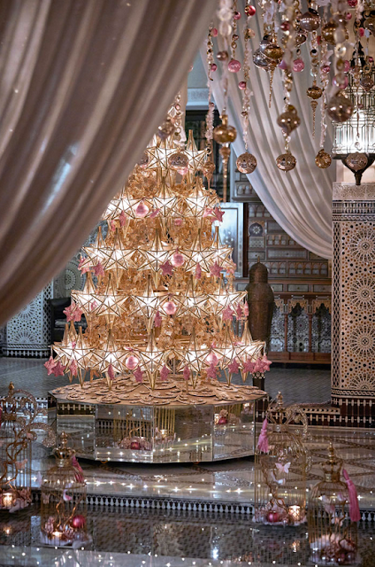 Holiday season decorationat Royal Mansour Marrakech