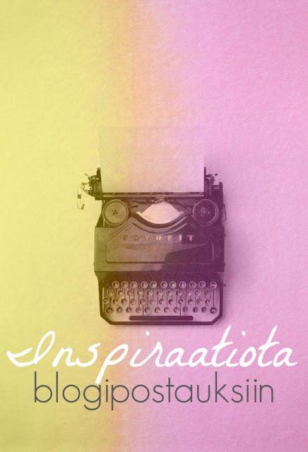 Inspiraatiota blogipostauksiin