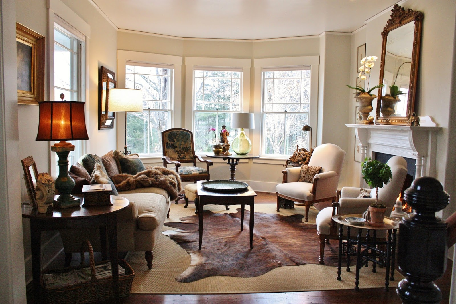 for the love of a house: the winter living room with tones ...