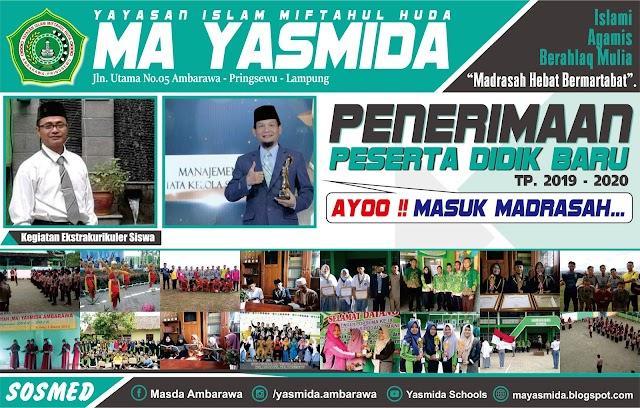 Desain Brosur Madrasah MA Yasmida Ambarawa 2019
