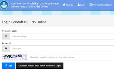 Pendaftaran CASN Online Kemdikbud 2017