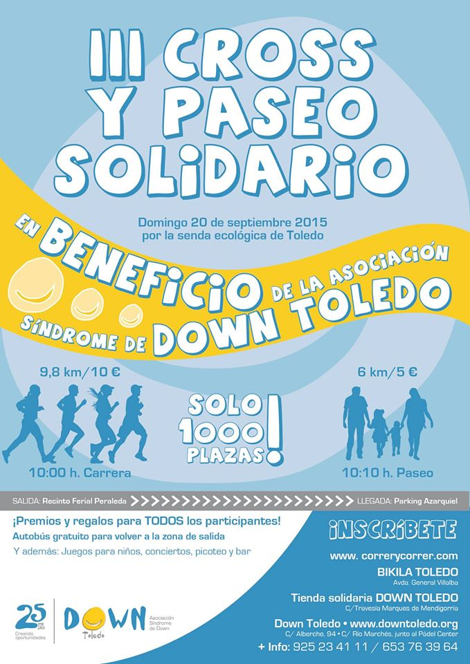 III Cross y Paseo Solidario Down Toledo