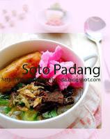 sederet nama kuliner khas tanah Minang yang tak absurd lagi di indera pendengaran kita Resep Soto Padang