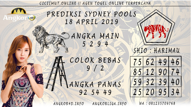 Prediksi Angka Jitu SYDNEY POOLS 18 APRIL 2019