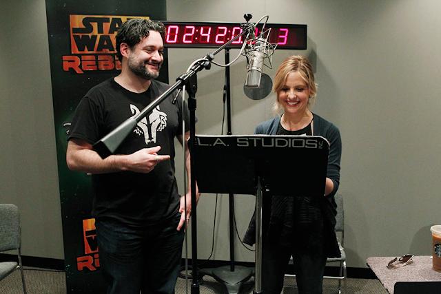 Star Wars Rebels Sezonul 2: Dave Filoni şi Sarah Michelle Gellar în studio