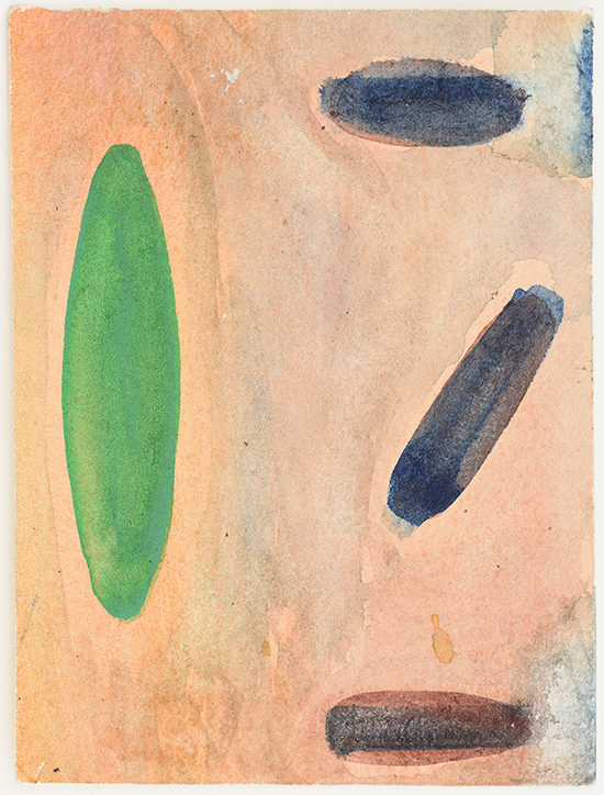 drawing Raoul De Keyser Untitled, 1999 watercolour on paper 16 x 11 cm