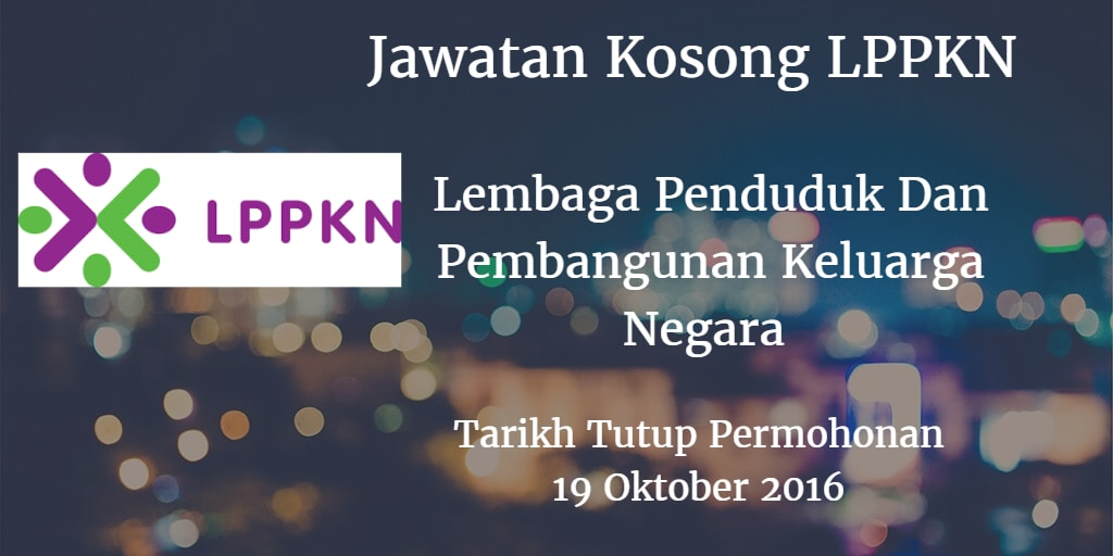 Jawatan Kosong LPPKN 19 Oktober 2016