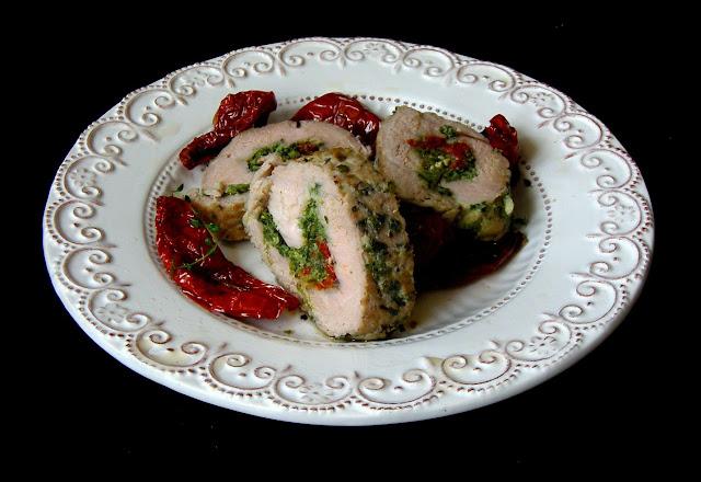 poled Polędwiczki ze szpinakiem i suszonymi pomidorami