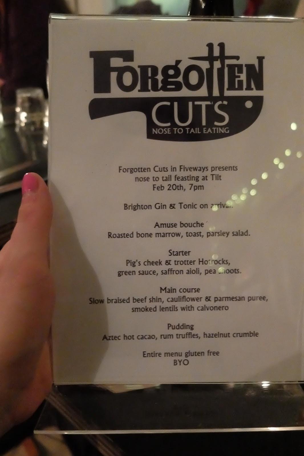 supper club menu