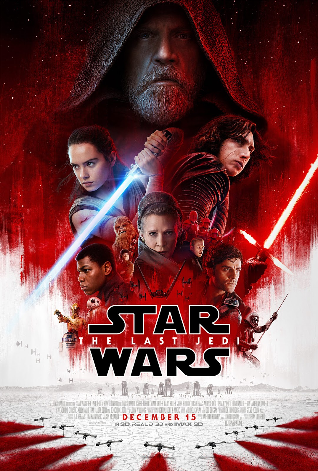 Star Wars Episode VIII The Last Jedi theatrical iconic poster